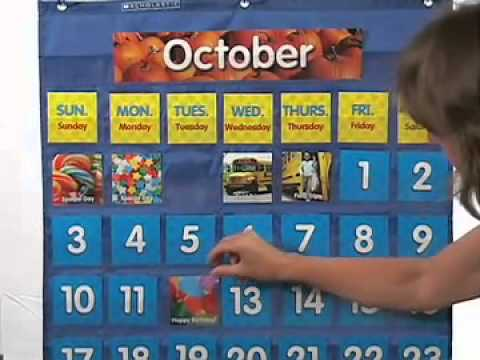 Scholastic Teaching Resources Monthly Calendar Pocket Chart - YouTube