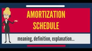 What is AMORTIZATION SCHEDULE? What does AMORTIZATION SCHEDULE mean? AMORTIZATION SCHEDULE meaning