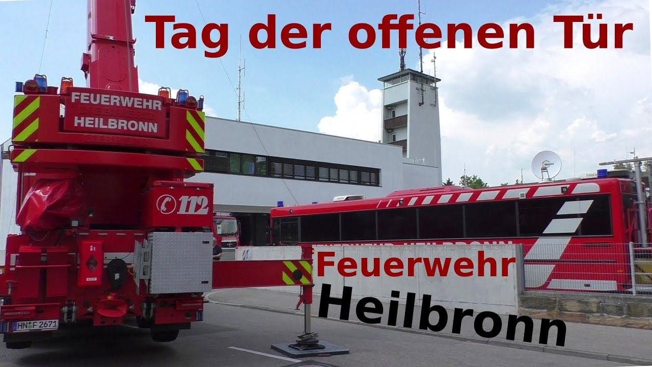Feuerwehr Heilbronn Tag Der Offenen Tür 2018 Fahrzeugschau Fire Trucks