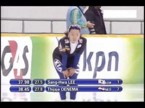 2011/12 speed skating world cup 500m Sang-Hwa Lee