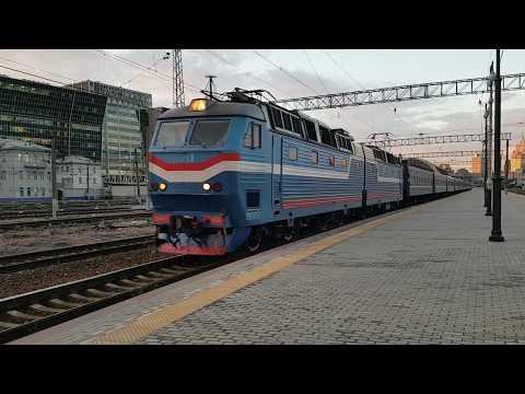 Train ( Moscow - Odessa ) departures from Kievskaya Railway Station