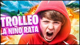 TROLLEO TO CHILD RAT HACKER IN FORTNITE GoDeiK