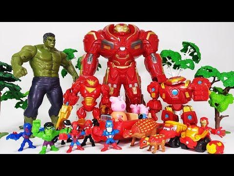 Hulk vs Hulkbuster, Marvel Villains are Coming, Go~! Avengers Spider man, Iron man, Captain America