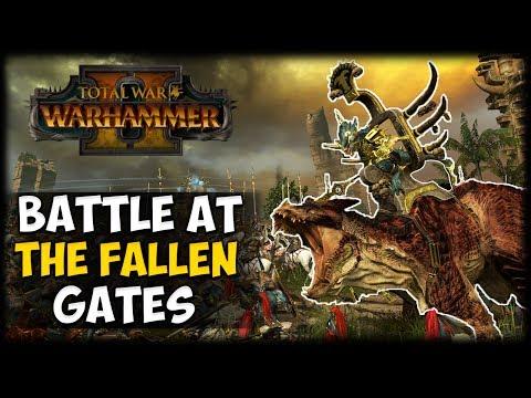 BATTLE AT THE FALLEN GATES! Total War: Warhammer 2 -  First Look Gameplay