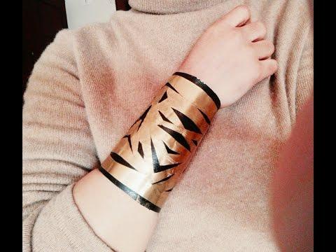 DIY:  Soda can cuff bracelet/ recycled toilet paper roll cuff bracelet