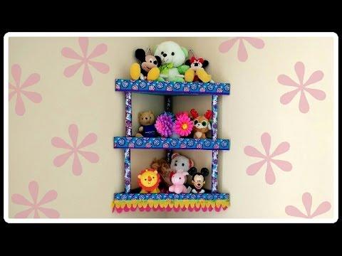Diy Cardboard Corner Shelf Rack Room Organizer Tutorial