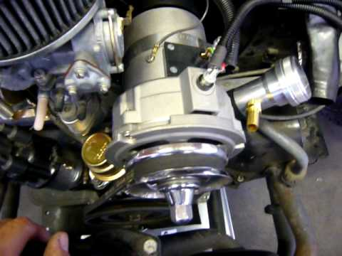 hqdefault vw alternator conversion wiring guide youtube VW Alternator Hook Up at bayanpartner.co