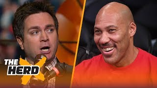 Chris Mannix on the Lakers and LaVar Ball drama, Celtics challenging the Cavs in the East | THE HERD