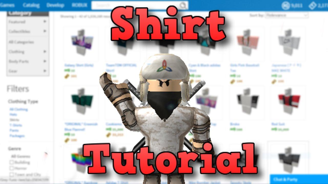 create a shirt on roblox
