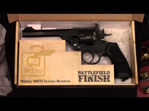 "WEBLEY MKVI CO2 POWERED (RIFLED/PELLET) SERVICE REVOLVER .177"" AIR PISTOL (2016)"