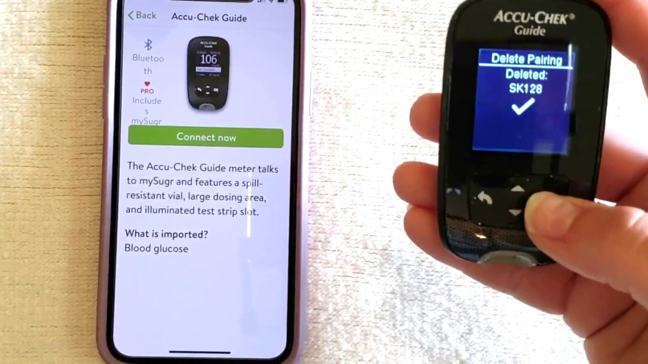 How to Pair Accu-Chek Guide blood glucose meter with mySugr App - YouTube
