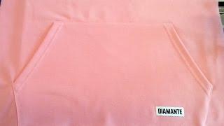 Sewing course How to sew EASY POCKET KANGAROO to sweatshirt 🎀 Jak uszyć łatwą kieszeń do bluzy