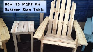 How To Build An Outdoor Adirondack Style Side Table