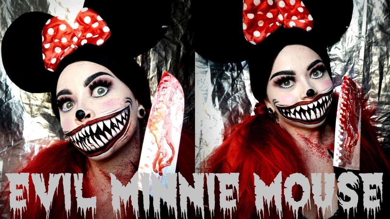 Evil Minnie Mouse Sfx Makeup Tutorial
