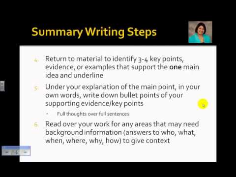 mastering the skill of summary writing