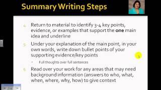 Mastering the Skill of Summary Writing