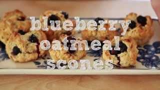 Blueberry Oatmeal Scones | Vegetarian Recipe