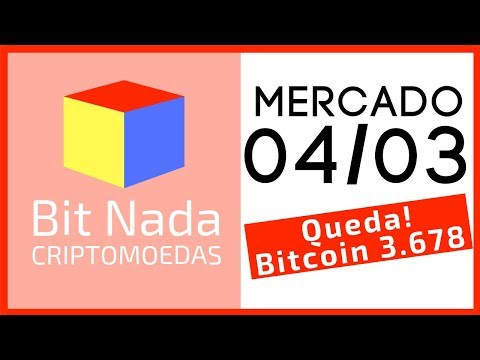 Mercado de Cripto! 04/03 QUEDA! Bitcoin 3.678 e muita Groselha!