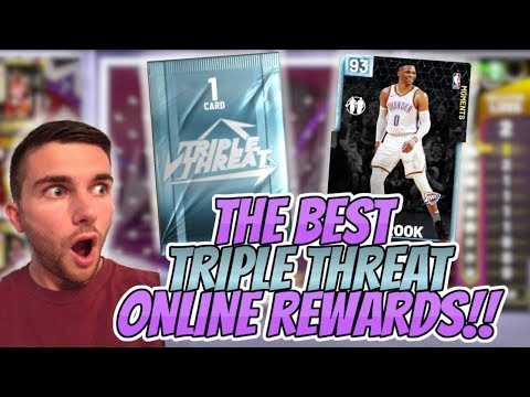 NBA 2K19 MYTEAM THE BEST TRIPLE THREAT ONLINE REWARD YOU WILL SEE!! TWO DIAMOND PULLS FROM ONE GAME!