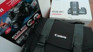 Canon 80D Unboxing Costco Bundle DSLR