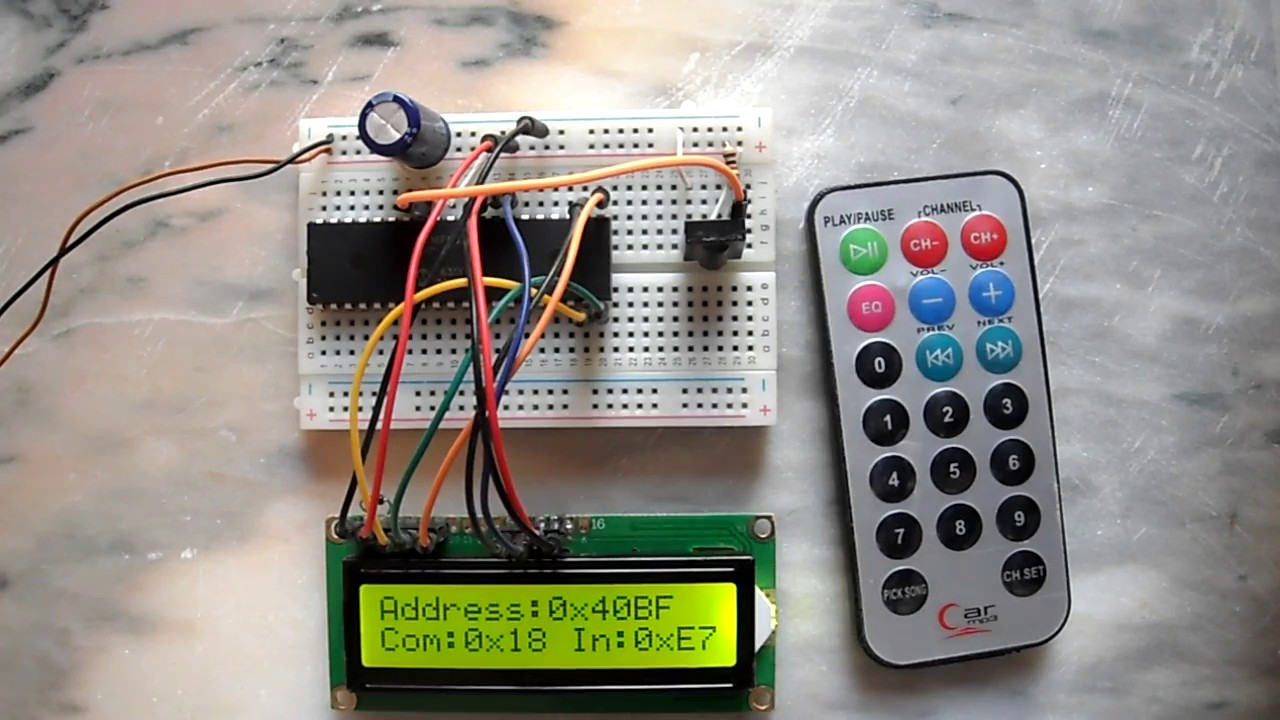 Pic Projects With Ccs Pic C Compiler Rc5 Remote Control Decoder With