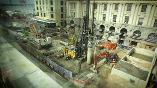 City Rail Link construction Auckland time-lapses
