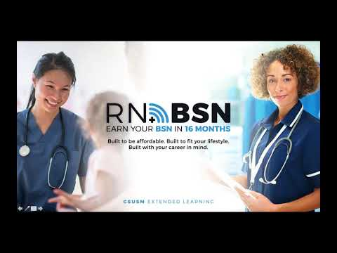 RN to BSN Program Info Session   Cal State San Marcos