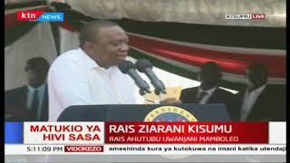 \'Tumefika hapa kuungana pamoja nanyi\': President Uhuru during Universal Healthcare in Kisumu