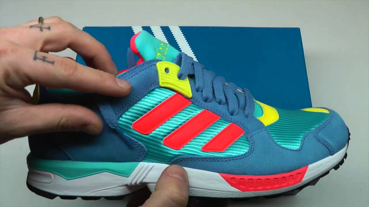 674caff11 MOVESHOP ADIDAS ZX 5000 RSPN AQUA RED BLUE - YouTube