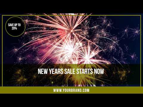 New Years Sales Video Ad Template