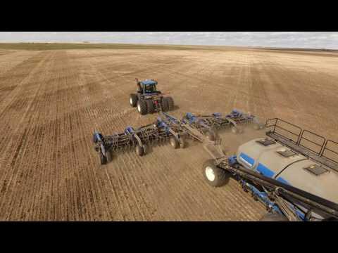 Spring Seeding 2017. KF Kambeitz Farms. Canada (4K Video).
