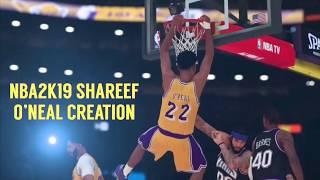 NBA2k19 - كيفية إنشاء شريف اونيل