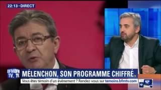 """Alexis  Corbière interrogé à """"Week-end Direct"""" sur BFMTV le 19/02/17"""