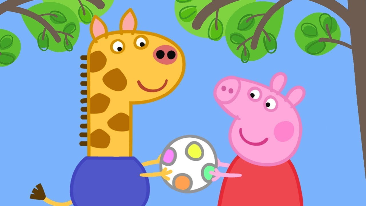 Peppa Pig Official Channel Meet Peppa Pig S New Friend Gerald Giraffe
