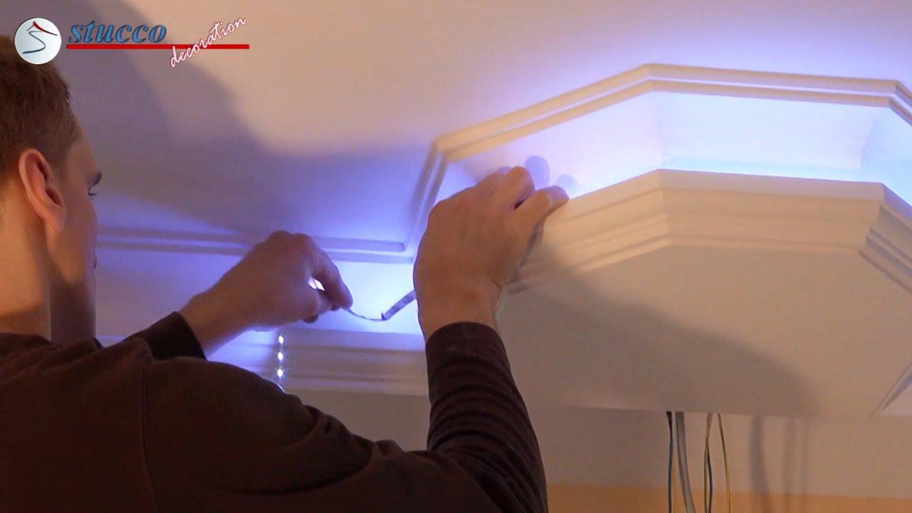 Led szalag s led spot be p t se youtube for Lichtleiste deckenbeleuchtung