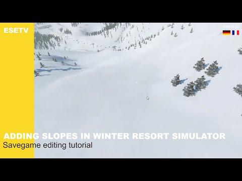 How to make ski slopes? | Winter Resort Simulator savegame editing tutorial #1 |