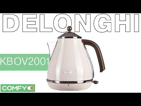 Delonghi KBOV2001 - современный чайник с винтажным дизайном - Видеодемонстрация от Comfy