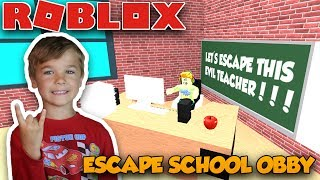 ESCAPE SCHOOL OBBY in ROBLOX | WE NEED TO ESCAPE THIS EVIL TEACHER | ROBLOX PARKOUR