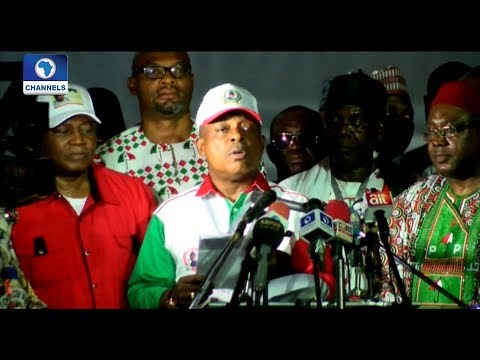 Secondus Serves APC 'Quit Notice' After Emerging As PDP National Chairman