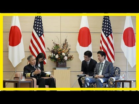 Us Latest News - Abe met Admiral harris, Commander of the U.S. Pacific command, and vowed to streng
