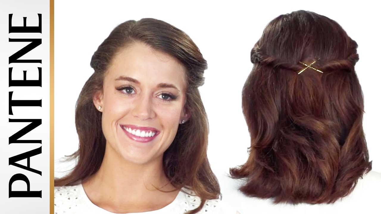 Half Up Half Down Hairstyles: Easy Half Up Twist Updo