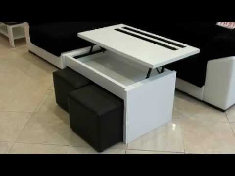 Mesa centro elevable 3122 youtube - Mesas de centro elevables merkamueble ...