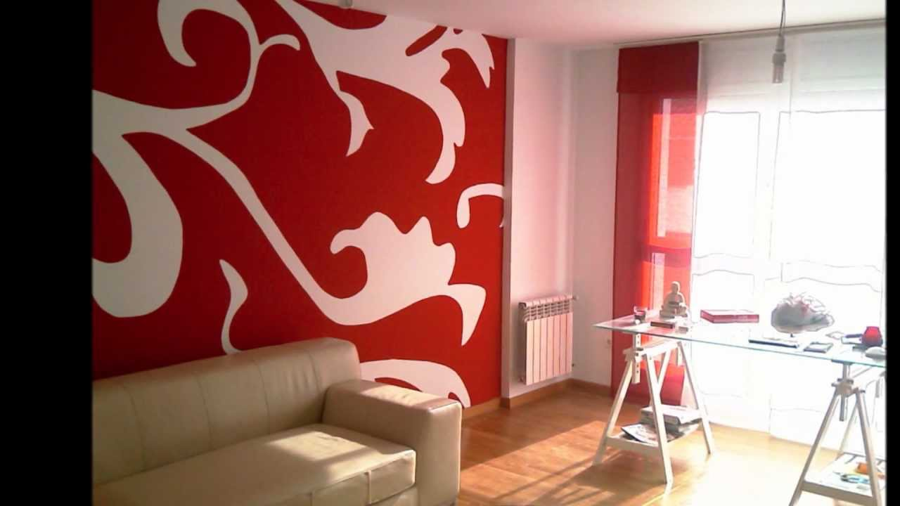 Mural en pared de sal n youtube for Decoracion de pared para living