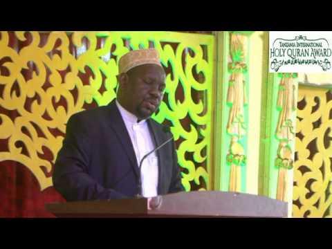 SPEECH OF SHEKH OTHMAN ALLY KAPORO CHAIRMAN OF TANZANIA HOLY QURAN MEMORIZATION CHARITABLE TRUST