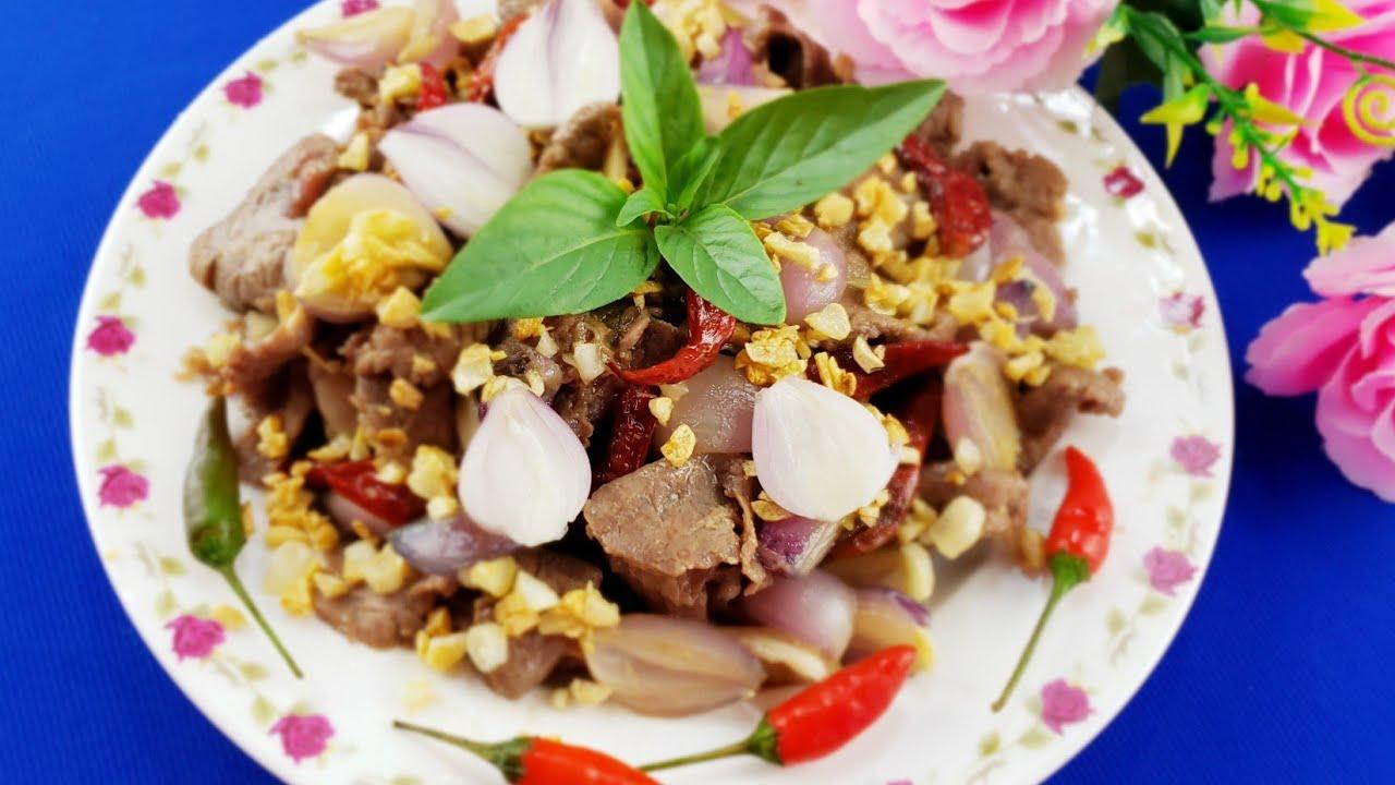 Cách làm món bò cháy tỏi ớt đơn giản chi tiết nhất ❤️ Huyền Thanh Food