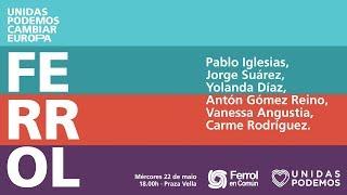 Acto de campaña en Ferrol.
