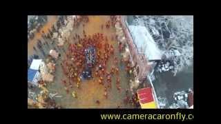 battaglia arance ivrea riprese aeree on fly a carnevale
