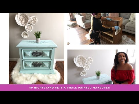 Furniture Flip | Chalk Painted Nightstand With Transfer