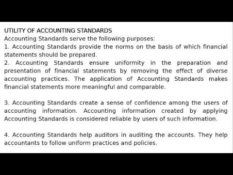 Class XI - Chapter 3 - Theory Base of Accounting - Utility of Accounting Standards By S. K. Ray