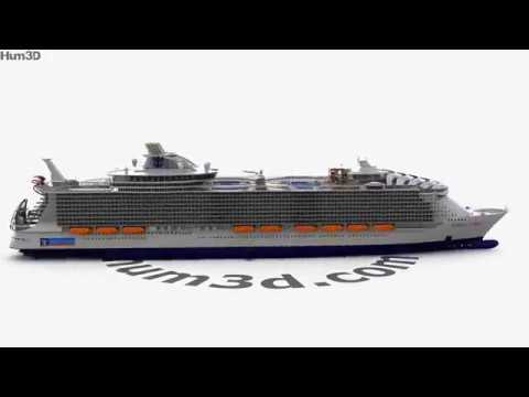 Harmony of the Seas 3D model by Hum3D.com